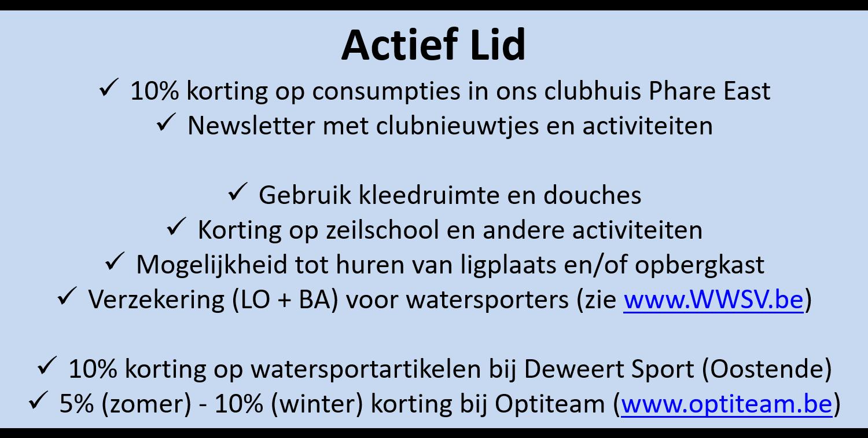 Lidgeld Voordelen Actief Lid 2090727